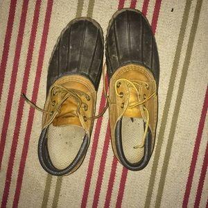 LL Bean duck boots.